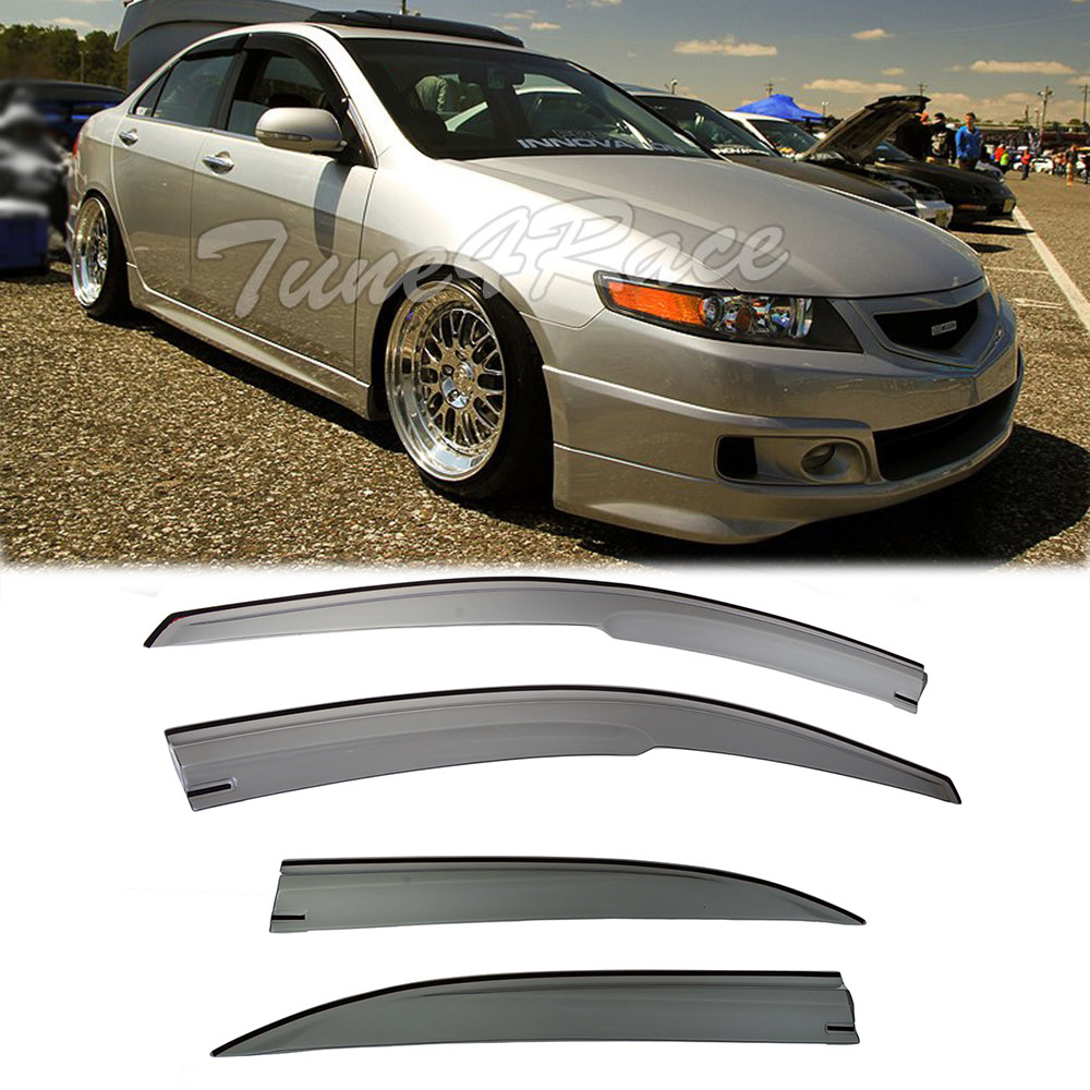 For 04-08 Acura TSX Mugen Style Smoke Tinted Side Window
