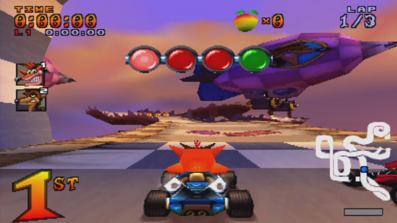 Crash Team Racing (CTR) For ePSXe Playstation 1 Free Download