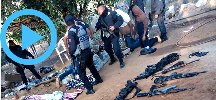 Tienden dos emboscadas a estatales de Guerrero; 10 delincuentes y 6 policías muertos (VIDEOS)