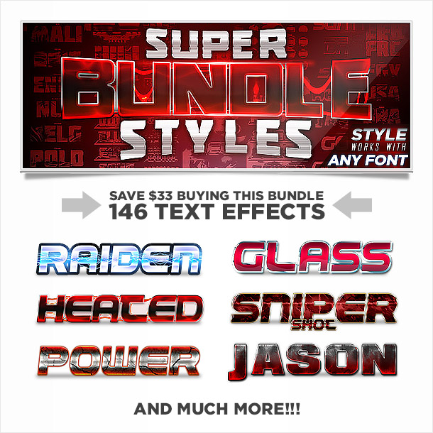 Super bundle of photoshop styles text effects 1