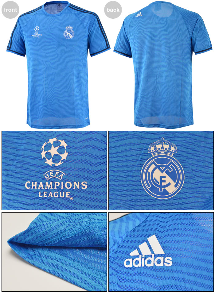 a566d4fbe 2015 16 Adidas REAL MADRID ADIZERO Blue S S Training Soccer Jersey Football  Shirt for UEFA CHAMPIONS LEAGUE   UCL