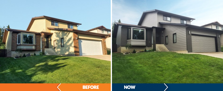before and after, transformation in Calgary