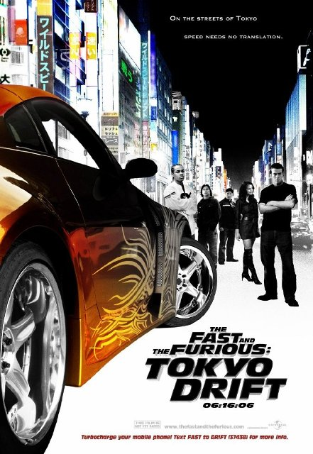 The Fast and the Furious: Tokyo Drift (2006) BluRay 720p 650MB