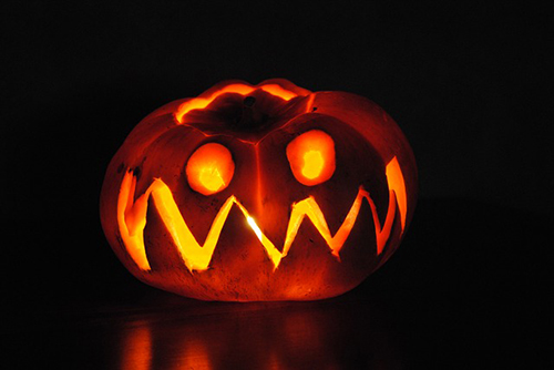 An image of a jack o'lantern, used in Halloween spells.