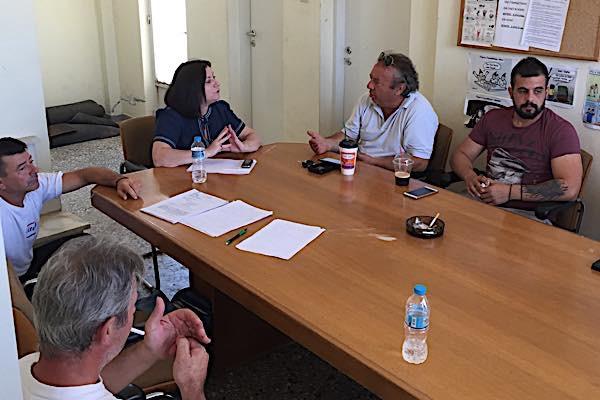 Επίσκεψη της Μαρίας Τριανταφύλλου στο Ζευγαράκι