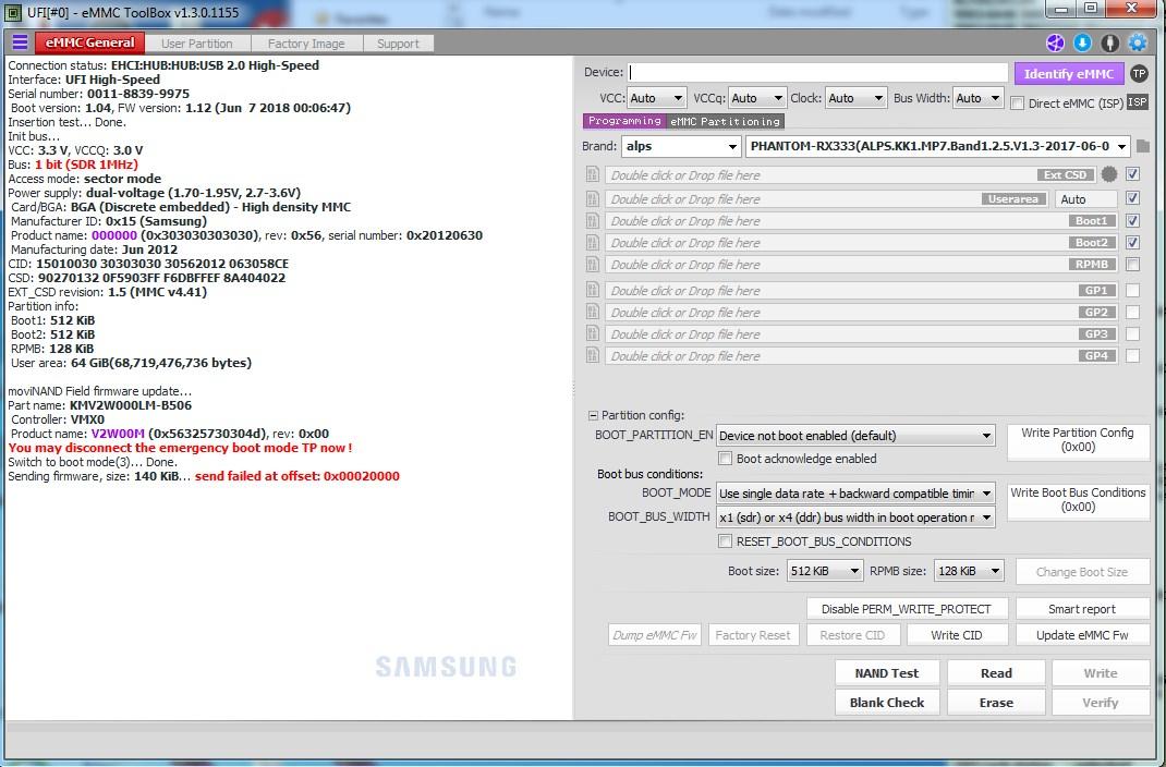 Version 1 3 0 1155 EMMC Firmware Write Error - UFIXERS Community