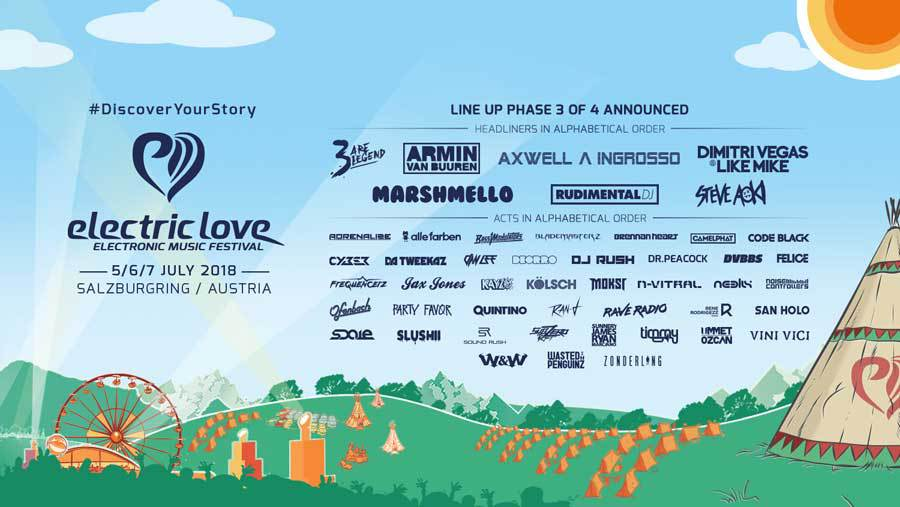 Electric Love Festival Line Up 2018