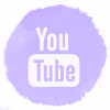 Lilac watercolor youtube social media icons
