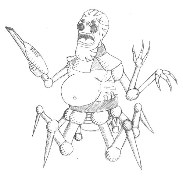 Sentient Humanoid/Frog/Spider Machine Race