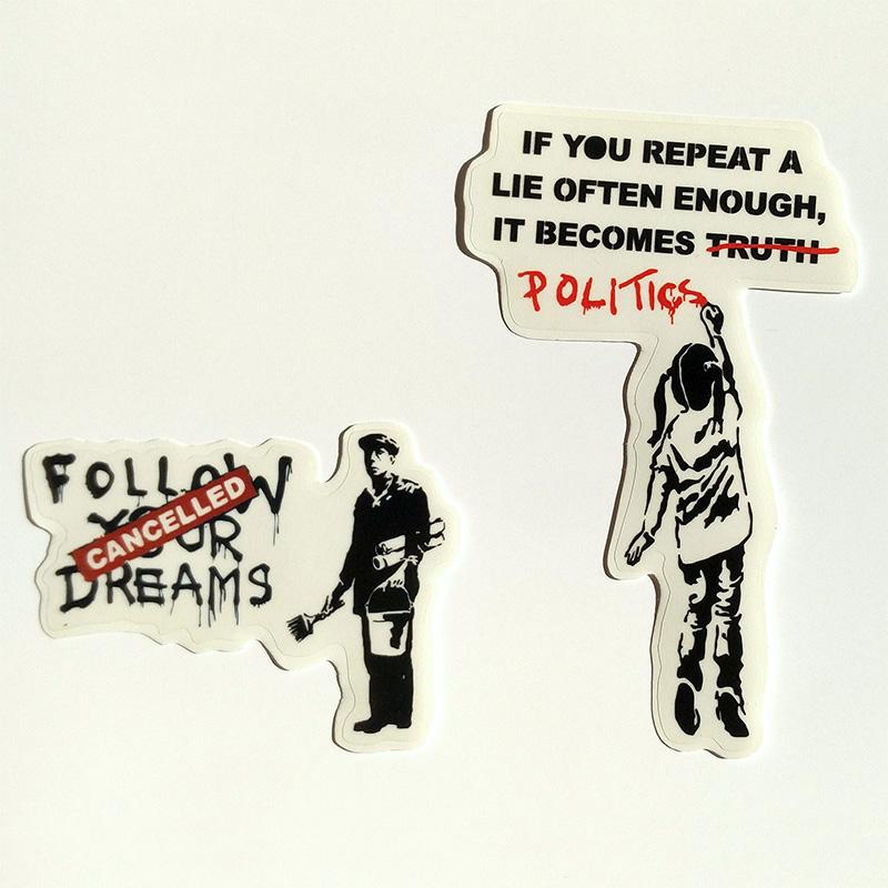 Banksy Sticker auf CLEAR VINYL Ich möchte Abziehbild Street Art Graffiti...