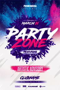 Modern minimal party flyer template - 14
