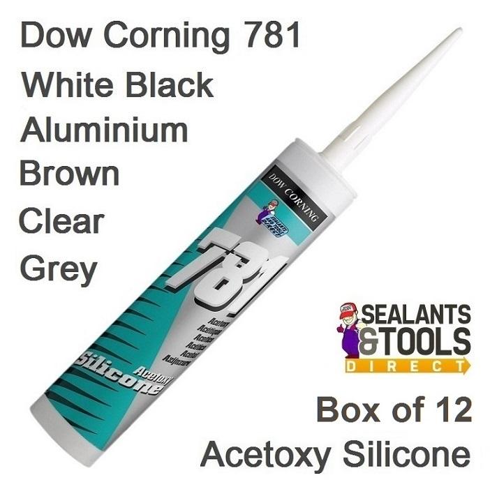 dow corning 781 Box of 12 acetoxy Coloured silicone sealant
