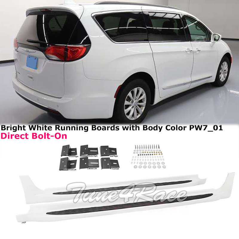 Details About For 17 18 Chrysler Pacifica Running Boards Nerf Bars Side Step Pw7 Bright White