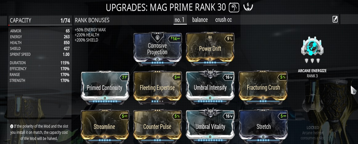 best arcanes warframe