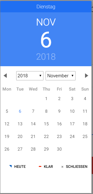 DatePicker locale dayLabels doesn't work - Material Design for Bootstrap