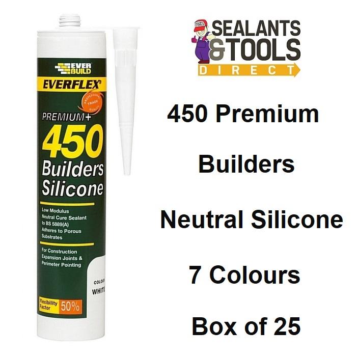 Everbuild 450 Premium Builders Silicone Sealant C3 box of 25