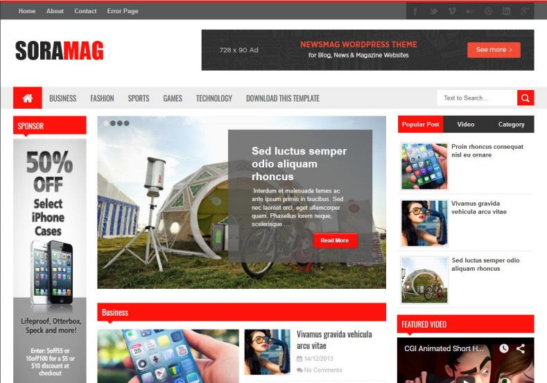 Sora_Mag_Blogger_Template