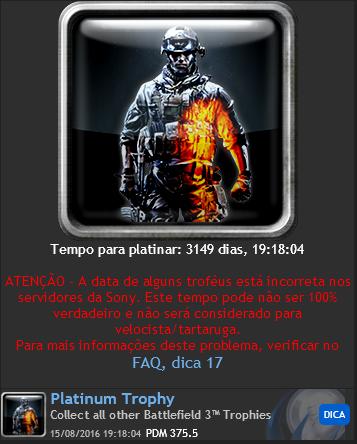 BUG] Tartaruga Battlefield 3 - Bugs do Fórum e Portal myPSt