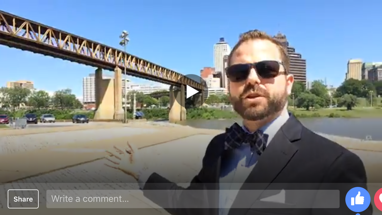 Anthony tours Mud Island River Park on Facebook Live