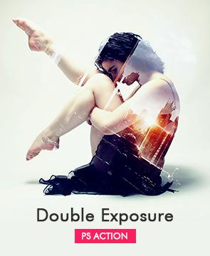 Double Exposure  - Double Exposure - Tech Sketch Photoshop Action