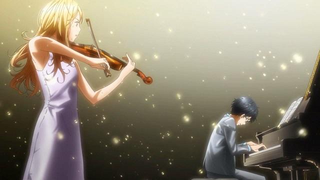 Kaori_y_Kousei_tocando_juntos_Shigatsu_wa_Kimi_no_Uso - Shigatsu wa Kimi no Uso [22/22][100Mb][Mega] - Anime Ligero [Descargas]