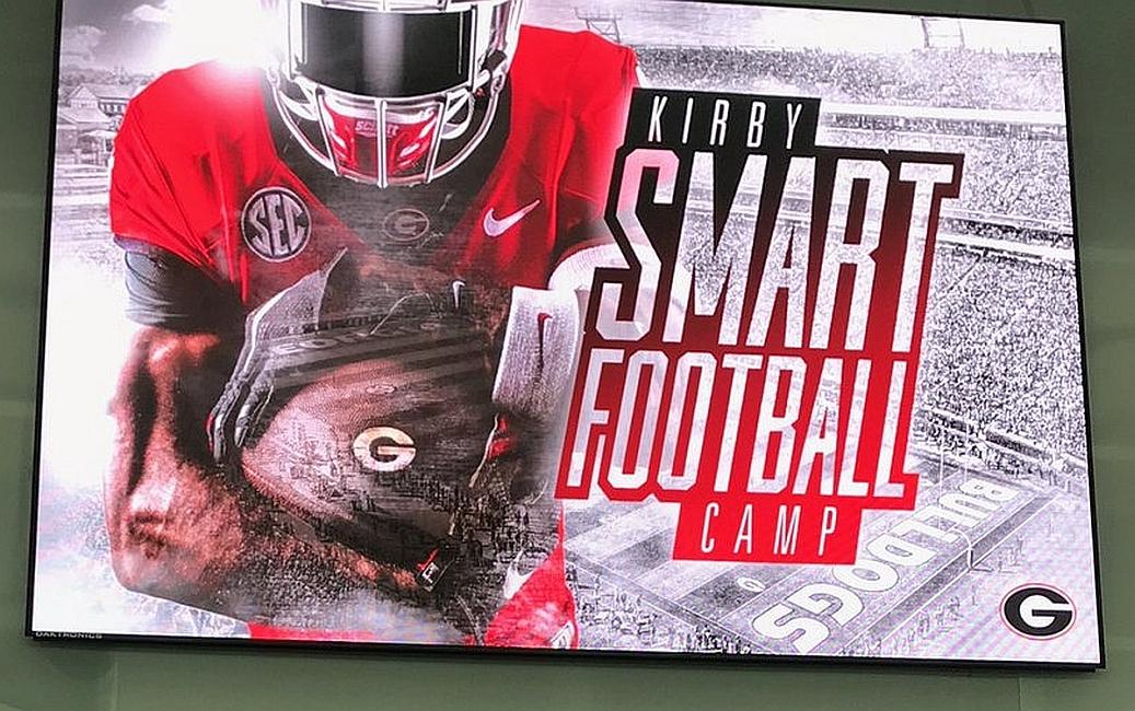Kirby Smart Football Camp  (photo from Jalen Huff/Twitter)