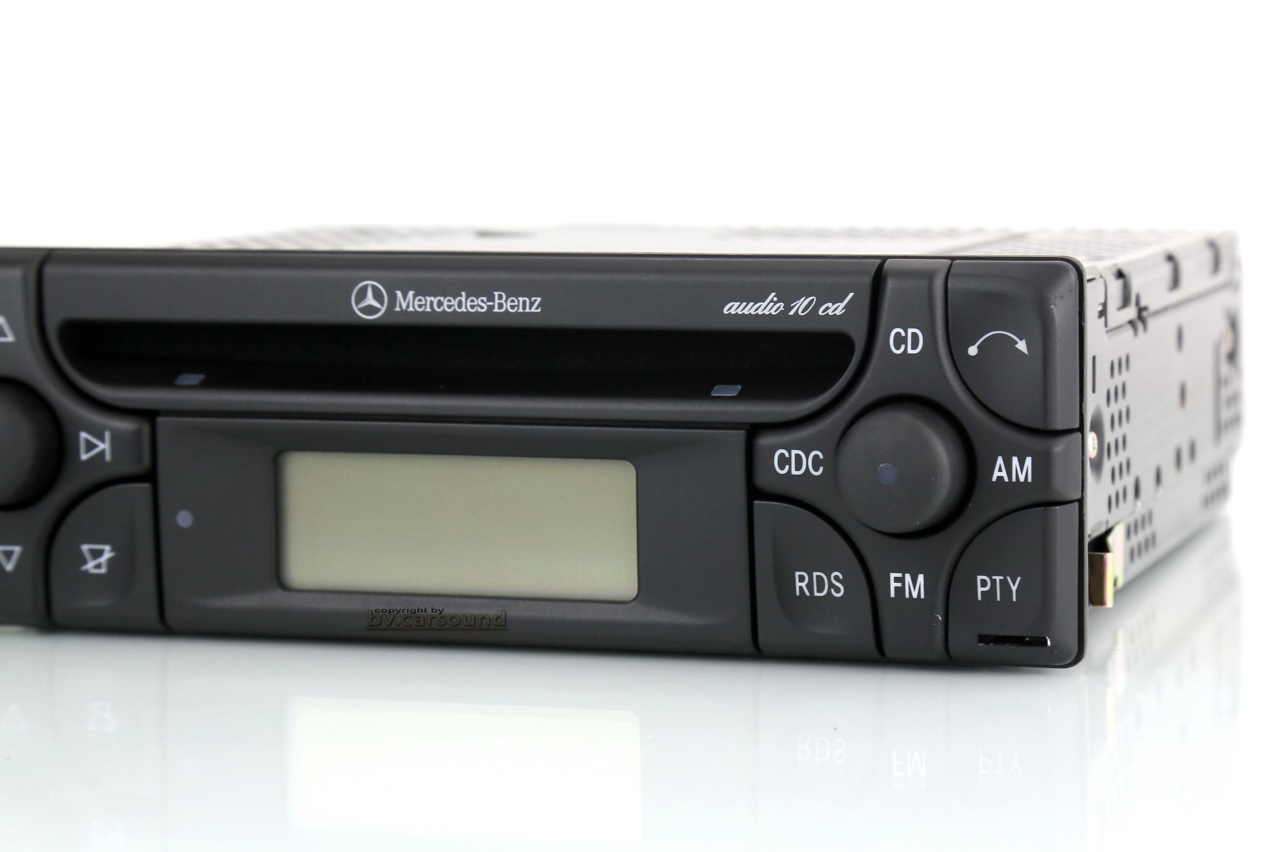 mercedes benz autoradio audio 10 cd mit aux in w202 w124. Black Bedroom Furniture Sets. Home Design Ideas