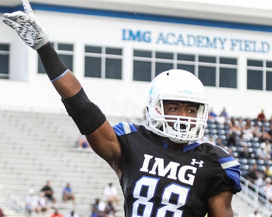 Jalen Jordan - Class of 2018 WR, IMG Academy (Photo from Jalen Jordan / Twitter)