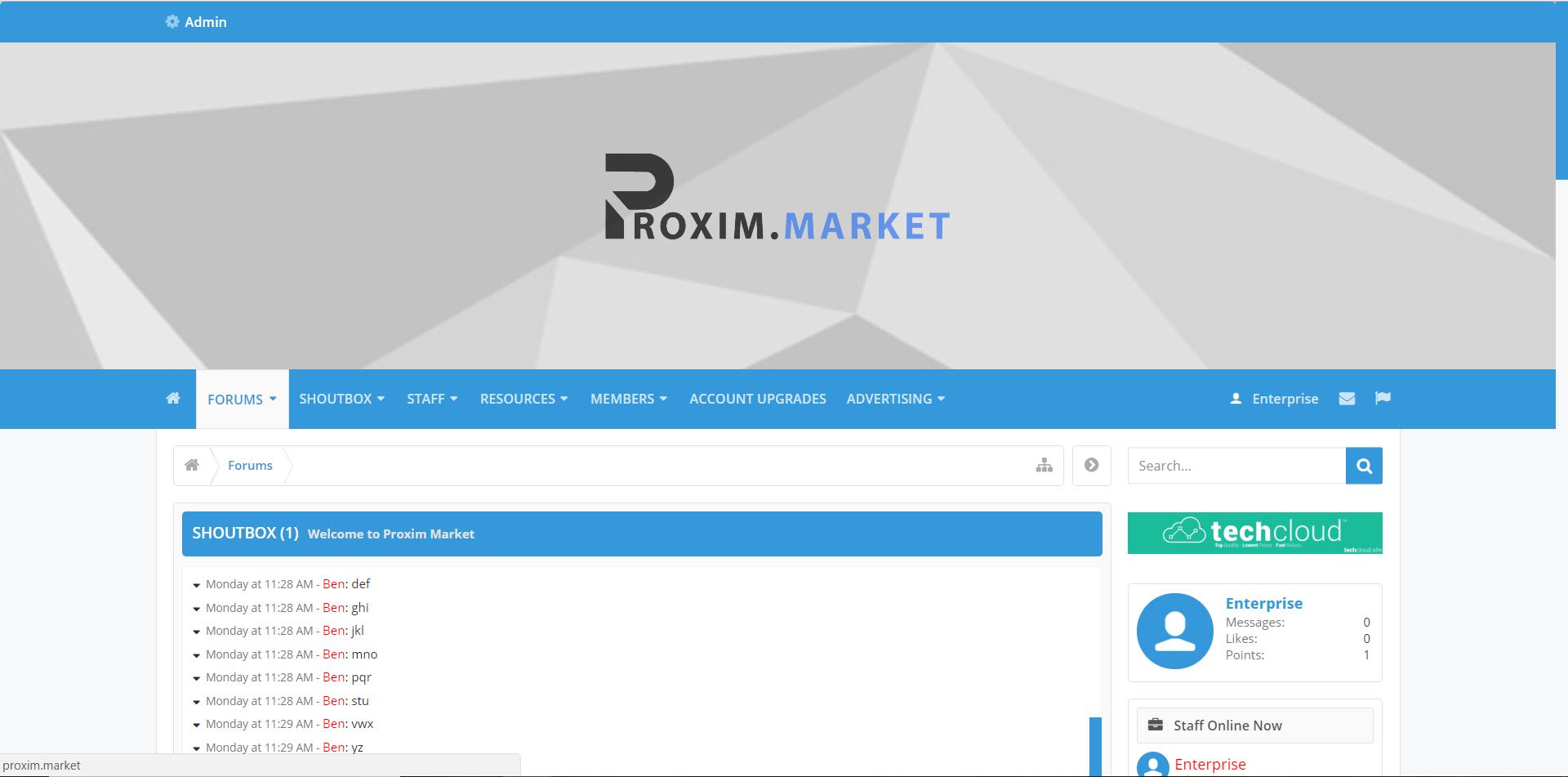 Proxim Market - XenForo Theme