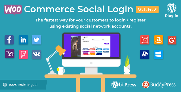 Download WooCommerce Social Login v1.6.2 – WordPress plugin