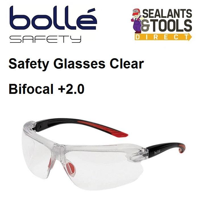Bolle IRI-s Safety Glasses Bifocal Reading +2.0