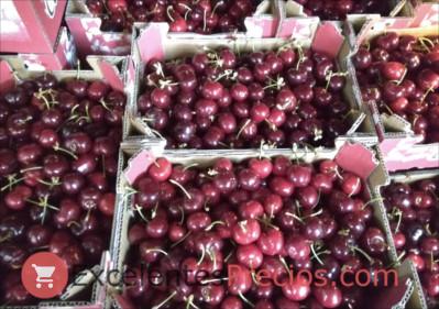 Recogida de cerezas, selección manual en cajas de 2kg