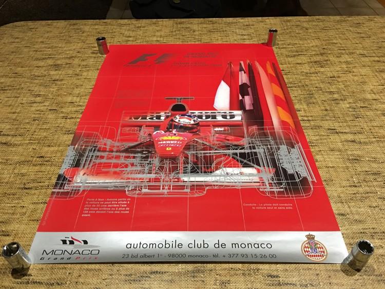 2000 F1 MONACO GRAND PRIX RACE POSTER