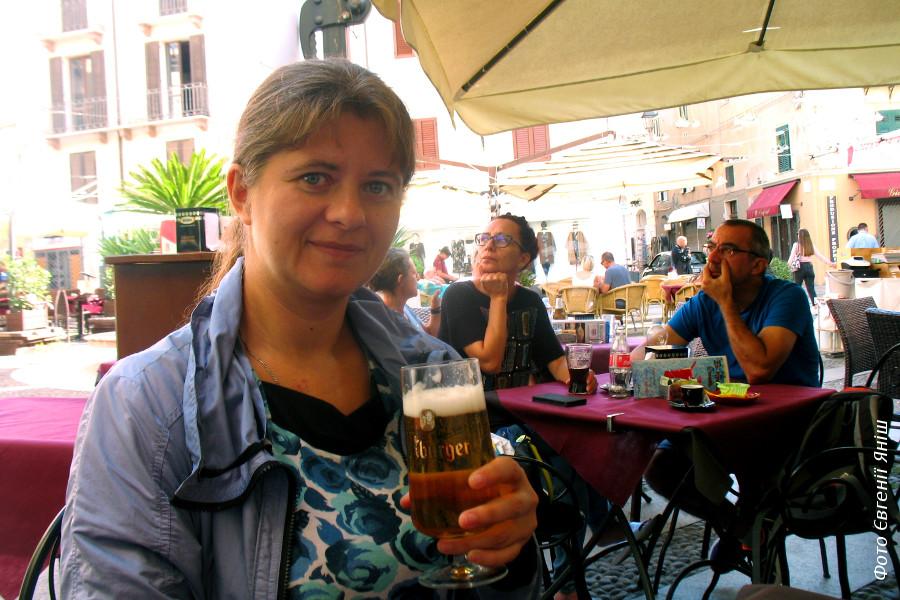 Перше випите на Сардинії пиво :)