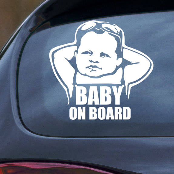 BABY ON BOARD Vinyl Decal Car Window Bumper Sticker Child Safety Sign