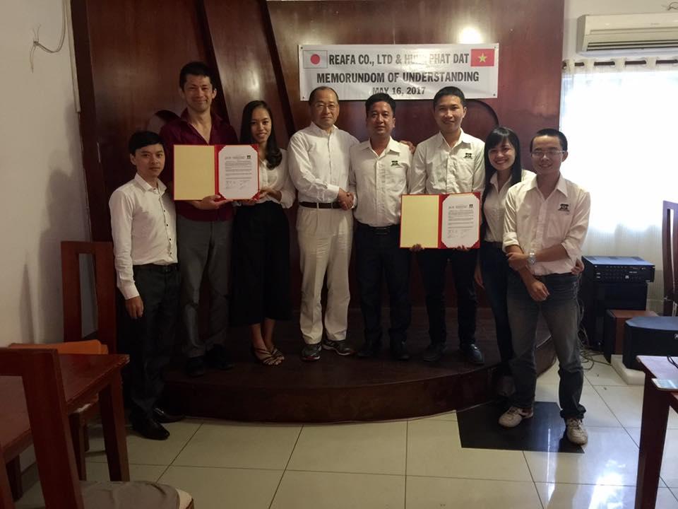 Công Ty Xây Dựng Hưng Phát Đạt và Công Ty REAFA Nhật Bản ký bảng ghi nhớ hợp tác