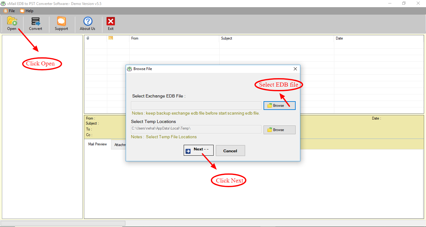 How to access EDB file data in Outlook without Exchange Server