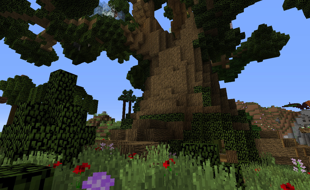 Life tree with root logs replaced