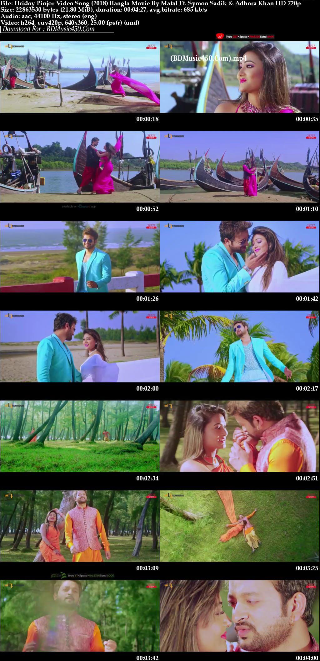 Hridoy Pinjor 2018 Bangla Movie Video Song Matal By. Symon Sadik & Adhora Khan HD