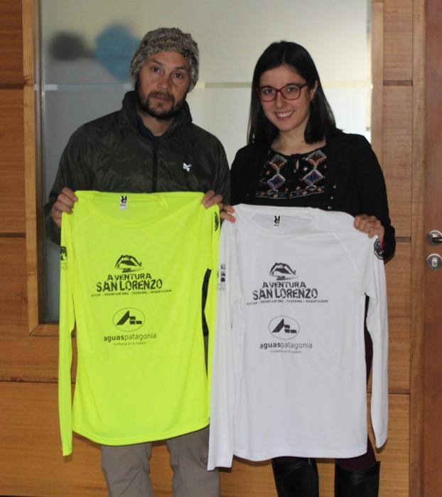 "Se donaron poleras para competencia ""Aventura San Lorenzo"" en Cochrane."