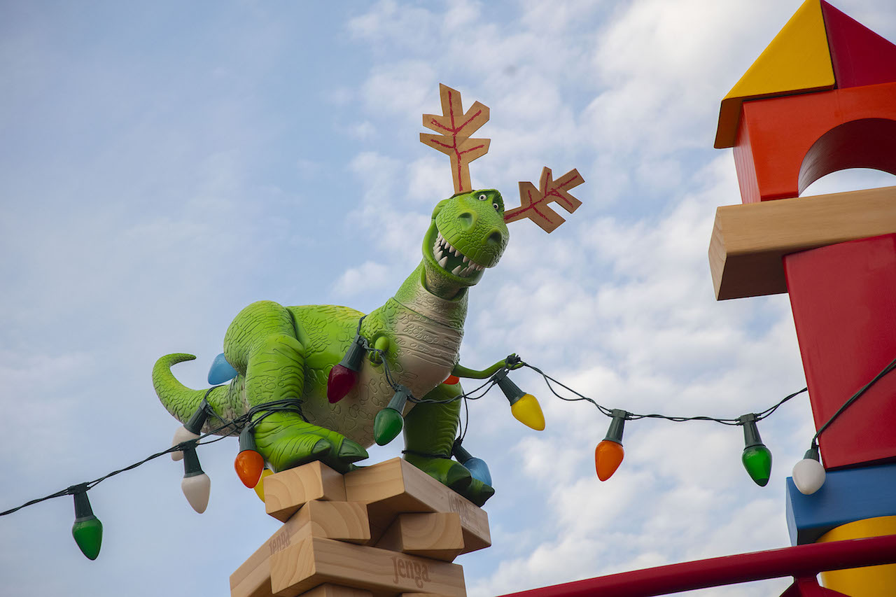 Toy Story Land at Christmas