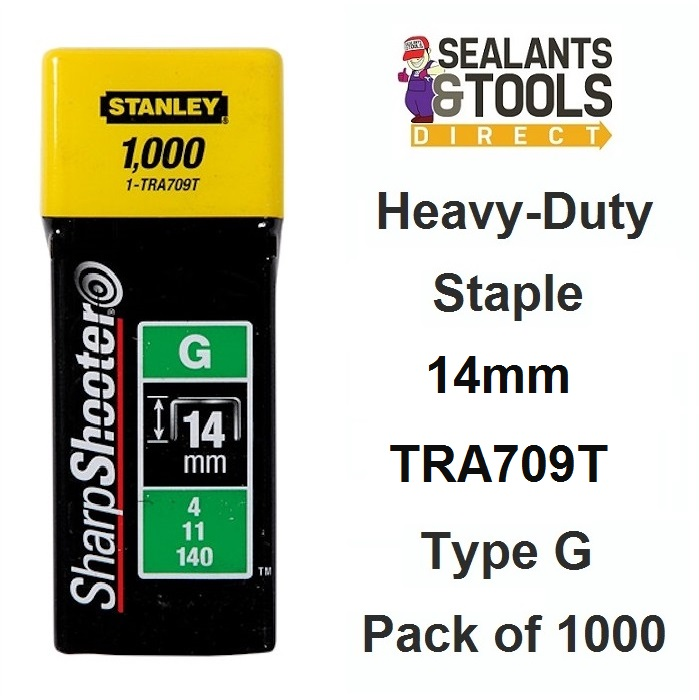 Stanley TRA709T Heavy-Duty Staples 14 mm Pack 1000