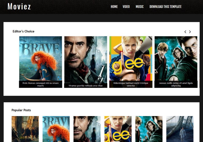 Moviez_Blogger_Template