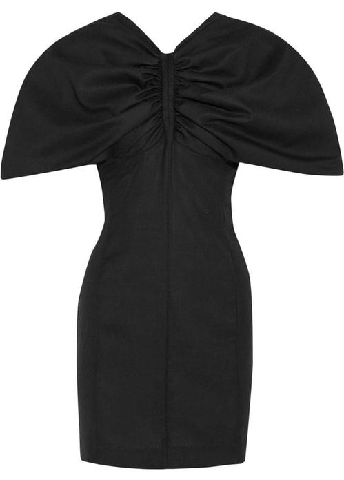 jacquemus mini robe en piqu u00e9 de laine fronc u00e9e vallauris 565e jpg 1450 north 499x white