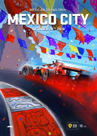 MEXICO 2018 FERRARI F1 GRAND PRIX RACE POSTER
