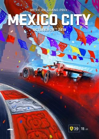 2018 BRAZIL F1 MEXICO GRAND PRIX RACE POSTER