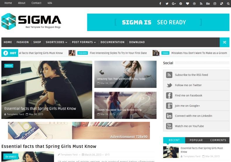 Sigma_Blogger_Template