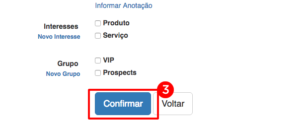 Confirmando Cliente