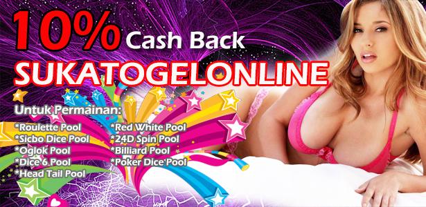 bonus promosi cash back terbaik togel online