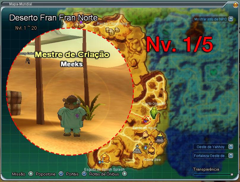 Mapa dos Majins - Nível 1 ao 5